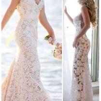 Beach Lace Wedding Dresses
