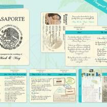 Beach Paradise 01 Passport Wedding Invitation