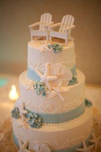 Beach Theme Wedding Cake Seashells Oceanbeach 2425679 Weddbook