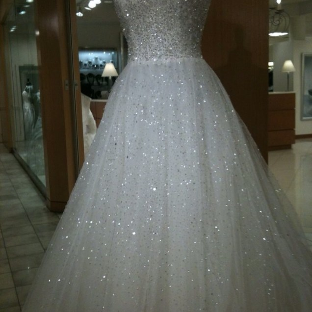 Beautiful Bling Out Wedding Dress 64 On Cheap Plus Size Wedding