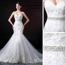 Beautiful Mermaid Wedding Dresses With Sweetheart Neckline Photos