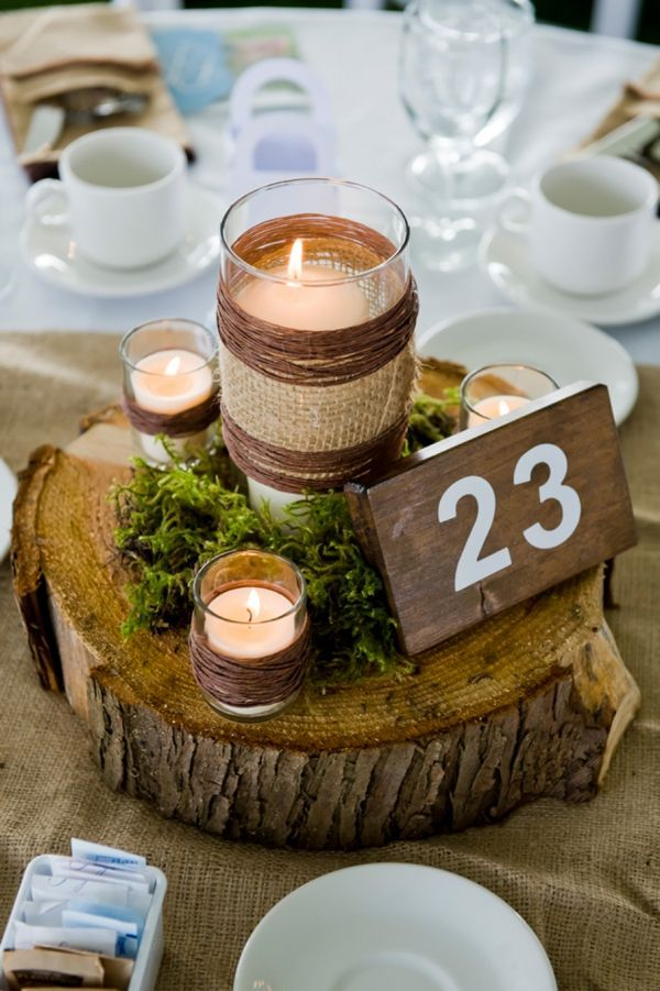 Beautiful Natural Wedding Centerpieces