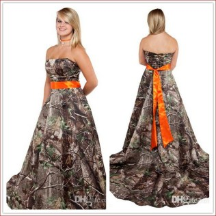 Beautiful Orange And White Wedding Dresses Gallery