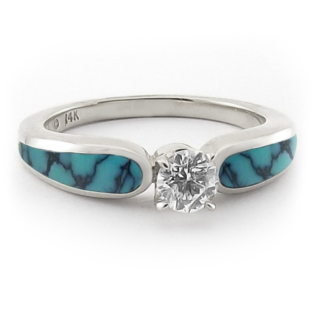 Beauty Of Turquoise Wedding Rings