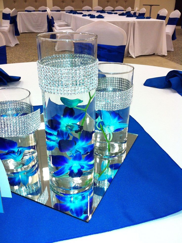Royal Blue Wedding Centerpieces