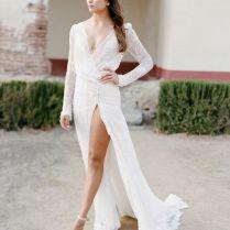 Best 25 Slit Wedding Dress Ideas On Emasscraft Org Beach Wedding