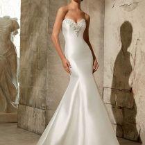 Best Champagne Fishtail Wedding Dress 59 In Tea Length Wedding