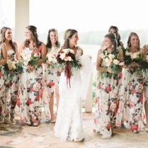 Best Floral Print Wedding Gown Pictures