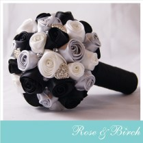 Black And Silver Wedding Bouquet Black White And Silver Wedding