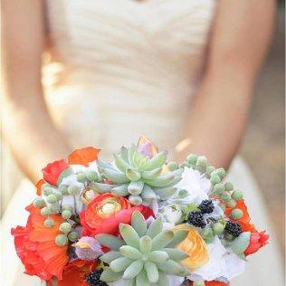 Bouquet Inspiration} Succulent Bridal Bouquet