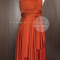 Burnt Orange Bridesmaid Dress Convertible Dress Infinity Dress
