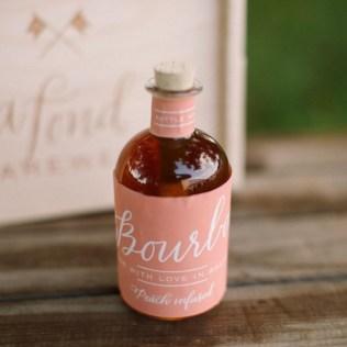 Calligraphy Bourbon Wedding Favor