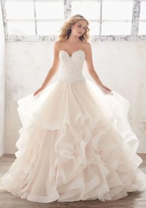 Captivating Ruffle Bottom Wedding Dress 88 About Remodel Princess