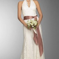 Casual Style Lace Wedding Dress With Belt – Fashdea