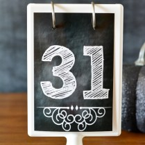 Chalkboard Printable Numbers {1