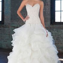Charming Ruffle Bottom Wedding Dress 59 For Your A Line Dress With
