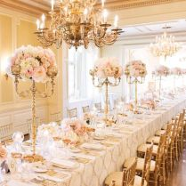 Charming White And Gold Wedding Table Decorations 34 On Wedding
