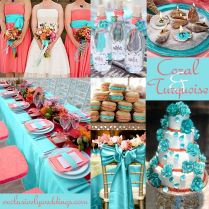 Coral And Turquoise Wedding Decorations