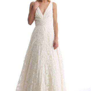 Cotton Wedding Dress Lovely On With Green Dresses From The Bride 0