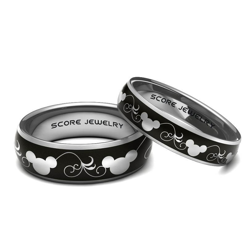 Mickey and minnie mouse wedding rings