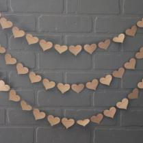 Craft Paper Red Heart Wedding Garland, Hearts Bachelorette Party