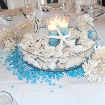 Creative Idea White Seashell Wedding Table Centerpiece In Clar