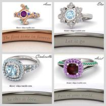 Disney Princess Wedding Engagement Rings
