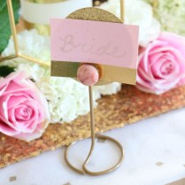 Diy Gold Place Card Holders – Craftbnb