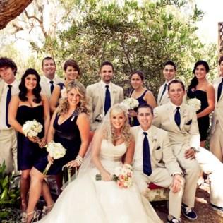 Ivory And Navy Blue Wedding