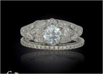 Flower Wedding Ring Set Best Of Aquamarine Wedding Set Gold Lotus