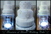 Fountain Of Hearts Wedding Cake By Perry