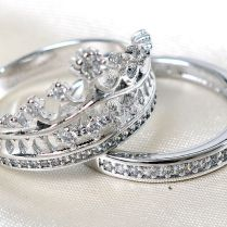 Free Shipping Size5 11 Coronet Lady Engagement Ring Set Queen