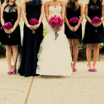Fuchsia And Hot Pink Wedding Color Combination Ideas Dream Black