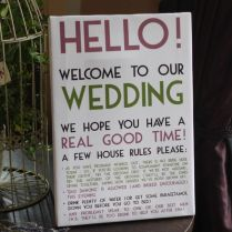 Funny Wedding Sign