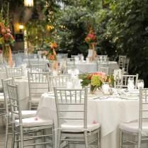 Hot Coral & Celadon Green Garden Wedding
