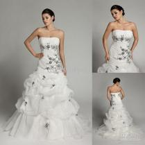 Hot Sale Sheath Wedding Gowns Strapless Organza Ruffle Black