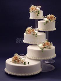 Innovative Wedding Cake Stands 5 Tier Cascade Cup Cake Stand Clear