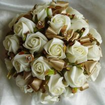 Ivory And Gold Wedding Flowers