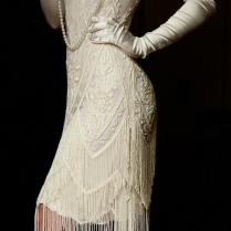Ivory Beaded Vintage Flapper 1920's Wedding Dress,the Great Gatsby