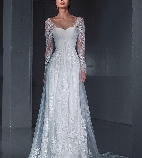 Lace Wedding Dress Wedding Dress Long Sleeves Wedding Dress