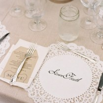 Lace Wedding Place Setting