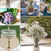 Lovable Ideas For Mason Jars In Wedding Mason Jar Ideas For