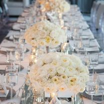 Lovable Winter Wedding Table Settings 1000 Ideas About Silver
