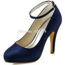 Luxury Navy Blue Wedding Shoes 20