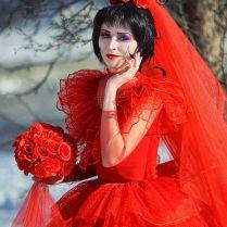 Lydia Red Wedding Dress Costume 6043