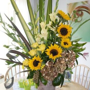 Marvellous Golden Wedding Flower Arrangements Church Flower