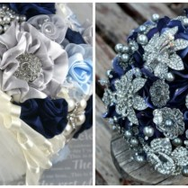 Navy Blue And Silver Wedding Bouquets An Elegant Wedding In Navy