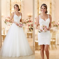 Online Get Cheap Two Piece Wedding Dress With Removable Skirt