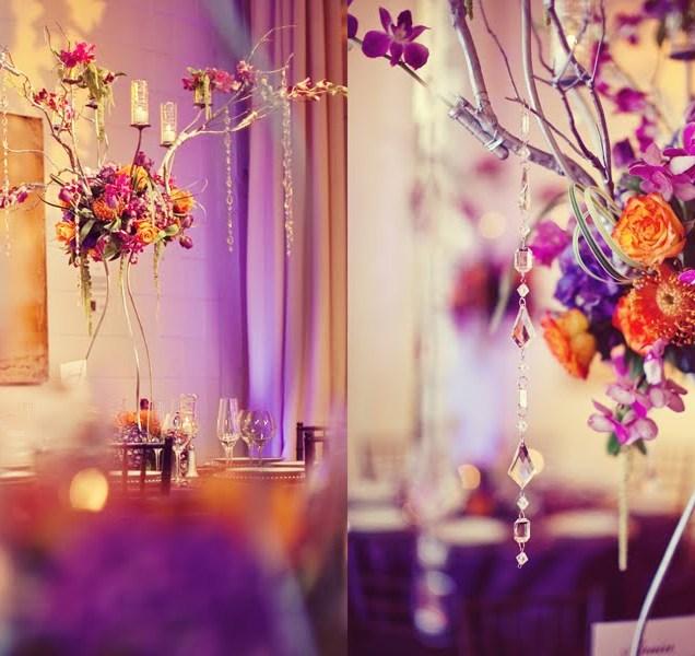 Purple Orange Wedding Ideas: Purple And Orange Wedding Decorations