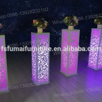 Party And Event Used Iron Metal Frame Wedding Aisle Flower Stands